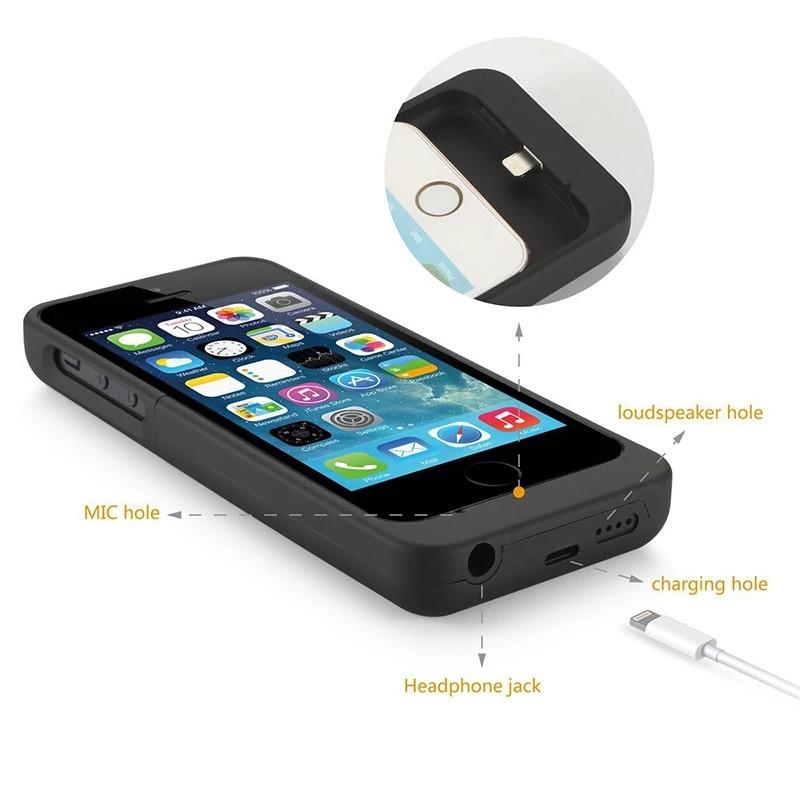 Чехол-Батарея повербанк POWER CASE 2200мАч APPLE iPHONE 5 5S 5C