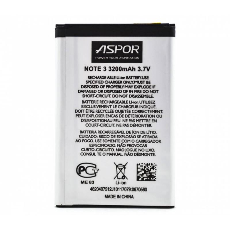 Аккумулятор Aspor B800BE для Samsung Galaxy Note 3, 3200мАh