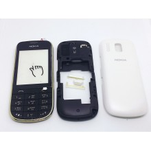 Корпус Nokia 202 Черно-Белый