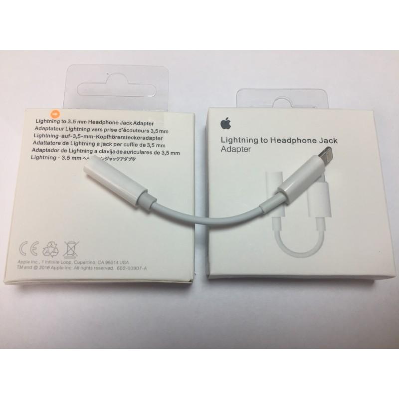 Переходник AUX (на наушники) ORIGINAL, iPhone 7, 8 адаптер LIGHTNING 3.5
